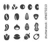 grain  nut  seed icon set | Shutterstock .eps vector #696073213