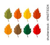 elegant and beautiful autumn... | Shutterstock .eps vector #696073324