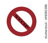 stop sign icon. warning icon. | Shutterstock .eps vector #696081388