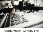 laptop on the table | Shutterstock . vector #696089170