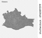 high quality map of oaxaca is a ... | Shutterstock .eps vector #696089599