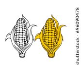 logo and symbol of corn for... | Shutterstock .eps vector #696090478