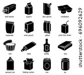 package types icons set. simple ... | Shutterstock .eps vector #696092629