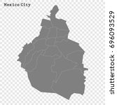 high quality map of mexico city ... | Shutterstock .eps vector #696093529