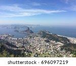 over view shot of escadaria do... | Shutterstock . vector #696097219