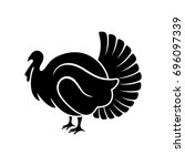 logo and symbol of a turkey for ... | Shutterstock .eps vector #696097339
