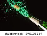 celebration alcohol theme with... | Shutterstock . vector #696108169