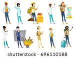 profession set for women  ... | Shutterstock .eps vector #696110188