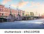 morning haze on the moika.... | Shutterstock . vector #696110908