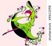 vector illustration of cute... | Shutterstock .eps vector #69611098