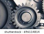 engine gear wheels  industrial... | Shutterstock . vector #696114814