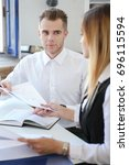 Small photo of Business discussion in the office contract conclusion