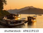 Boats On The Mekong River ...