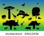 wild animals   vector   Shutterstock .eps vector #69612436