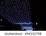 winter illumination lights in... | Shutterstock . vector #696131758