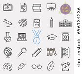 education line icon set | Shutterstock .eps vector #696134236