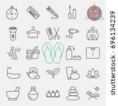 beauty line icon set | Shutterstock .eps vector #696134239