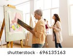 art school  creativity and... | Shutterstock . vector #696135163