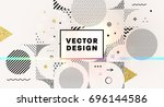 geometric background   label... | Shutterstock .eps vector #696144586