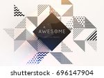 geometric background   label... | Shutterstock .eps vector #696147904