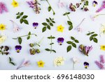 pattern made of lilac and... | Shutterstock . vector #696148030