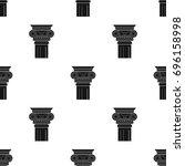 column icon in black style... | Shutterstock . vector #696158998