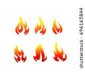 fire set | Shutterstock .eps vector #696165844