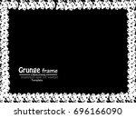grunge frame. vector... | Shutterstock .eps vector #696166090