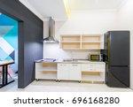 modern kitchen interior at home | Shutterstock . vector #696168280