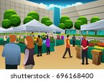 a vector illustration of people ... | Shutterstock .eps vector #696168400