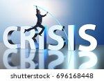 businessman in business crisis... | Shutterstock . vector #696168448
