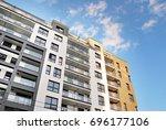 modern  luxury apartment... | Shutterstock . vector #696177106