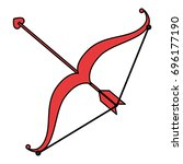 arrow bow isolated icon   Shutterstock .eps vector #696177190