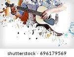 Beautiful Playing Guitar On...