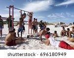 kelibia  tunisia   august 13 ... | Shutterstock . vector #696180949