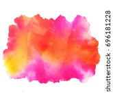 colorful abstract watercolor... | Shutterstock .eps vector #696181228