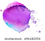 colorful abstract watercolor... | Shutterstock .eps vector #696182554