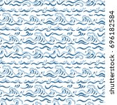 sea waves vector seamless... | Shutterstock .eps vector #696182584