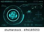 hud interface. futuristic... | Shutterstock .eps vector #696185053