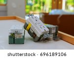 electrical outlets and covers Electrical outlets outlet, home, power - stock photo