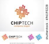 chip tech logo template design... | Shutterstock .eps vector #696193228