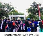 putrajaya  malaysia   august 11 ... | Shutterstock . vector #696195313