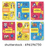 set of thin line technical... | Shutterstock .eps vector #696196750