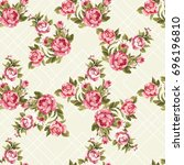 seamless floral pattern with...   Shutterstock .eps vector #696196810