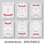 traffic light day vector... | Shutterstock .eps vector #696196813