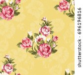seamless floral pattern with... | Shutterstock .eps vector #696196816