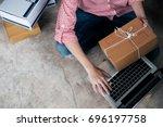 young business start up online... | Shutterstock . vector #696197758