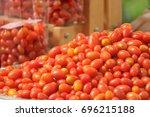 solanum lycopersicum var.... | Shutterstock . vector #696215188