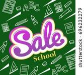 vector banner back to school... | Shutterstock .eps vector #696232279
