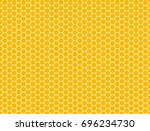 honeycomb seamless pattern.... | Shutterstock .eps vector #696234730